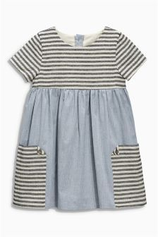Denim Stripe Pocket Dress (3mths-6yrs)