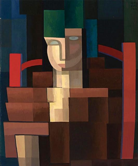 Emilio Pettoruti. Señorita con abanico verde. 1925.