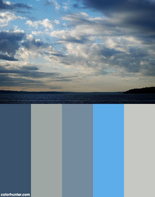 2010-09-04: This Is What Partly Cloudy Means In Seattle Color Scheme from colorhunter.com