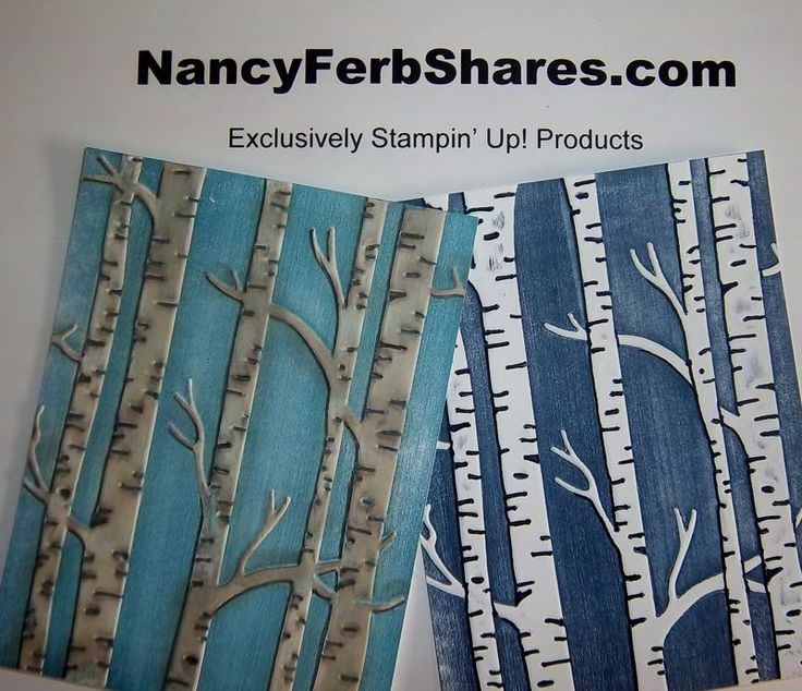 Do more with Woodland Embossing Folder: http://www.nancyferbshares.com/nancy-ferb-shares-papercr/2015/11/get-more-from-embossing-folders.html