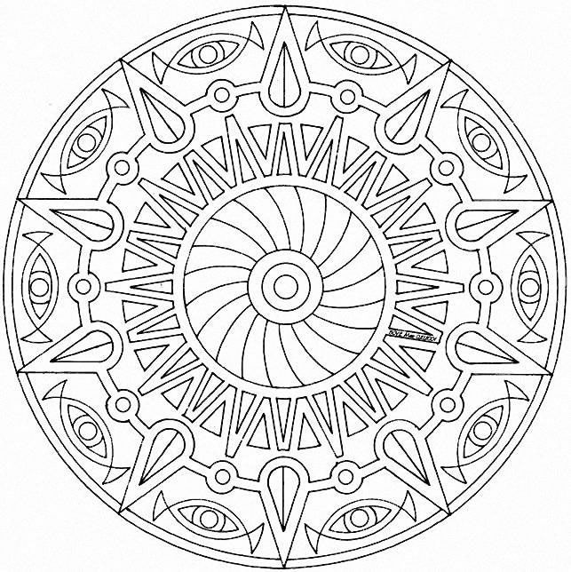 The 106 best Mandalas images on Pinterest | Colouring pages ...