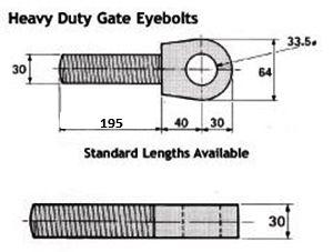 Heavy Duty Gate Hinge Eye   Gate Accessories