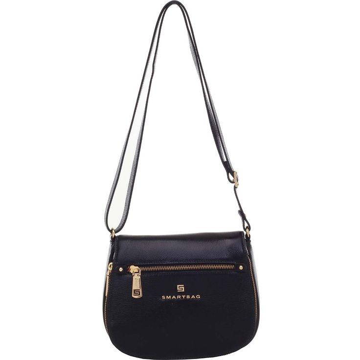 Bolsa Smartbag Couro Transversal Preto - 72175.17 (Smartbag - R$499,90)