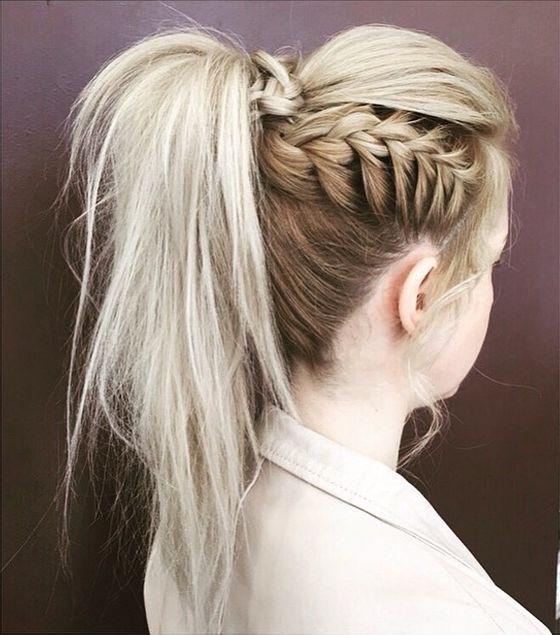 Super 1000 Ideas About Braid Ponytail On Pinterest Half Wigs Braids Short Hairstyles For Black Women Fulllsitofus