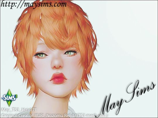 Mayims: Sims 3 Hair - May_TS3_Hair17F
