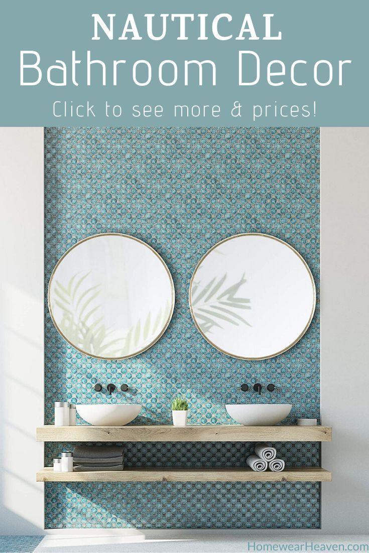Pin On Nautical Bathroom Decor Ocean Coastal Themes Nautical bathroom wall decor