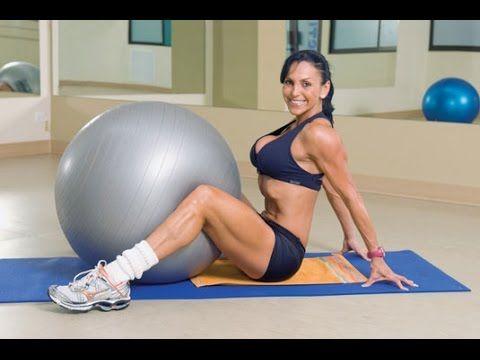 Пилатес упражнения с мячом (фитбол) для похудения. СУПЕР ФИТНЕС ВИДЕО УРОК! - YouTube