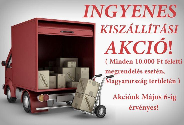 Május 6-ig minden 10000 Ft feletti rendelés esetén a házhoz szállítás ingyenes.  http://www.avantgardfashion.hu/