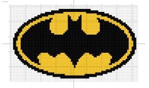 Batman Logo Cross-Stitching