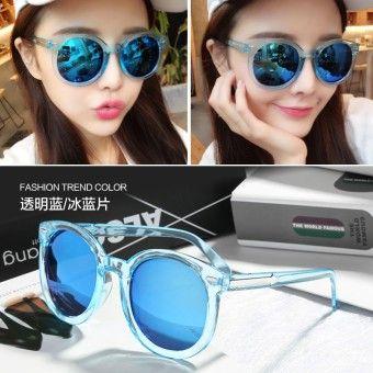 Best Shop Kacamata Hitam Wanita Bentuk Bulat Gaya Retro Gaya KoreaKualitas  memuaskan Kacamata Hitam Wanita Bentuk 54acdb7fb2