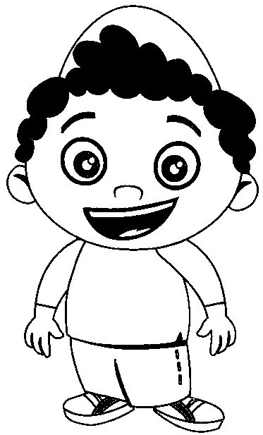 Boys coloring book pages ~ Little Boy Coloring Pages