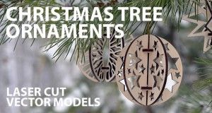 Christmas tree ornaments - free vector models for laser cut