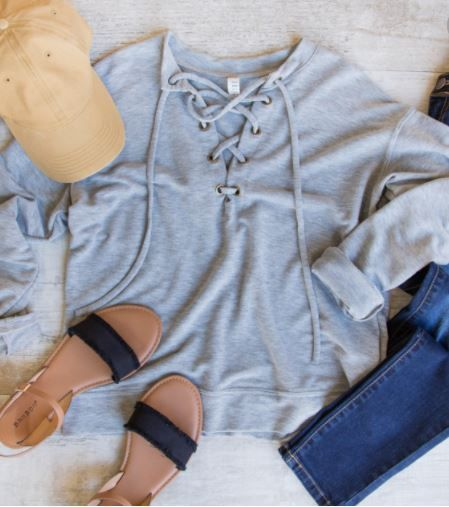 Call You Later Lace Up Top – [Outfit] Ideas
