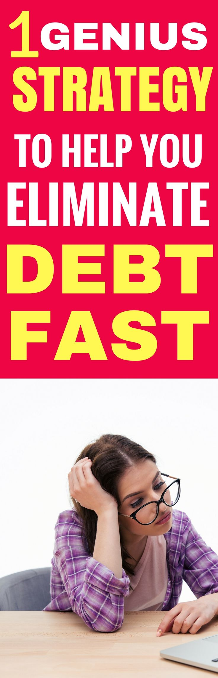 This genius strategy to get out of debt fast is seriously the BEST! I'm so happy I found an amazing, quick way to pay off my debt and cannow form a great debt pay off strategy that I can stick to! I'm definitely pinning this!