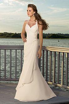 Pretty asymmetrical wedding dress #weddingdress #weddinggown #weddingplans #outdoorwedding http://www.shopweddingdress.co.uk/Wedding-Dresses/Outdoor-Wedding-Dresses/