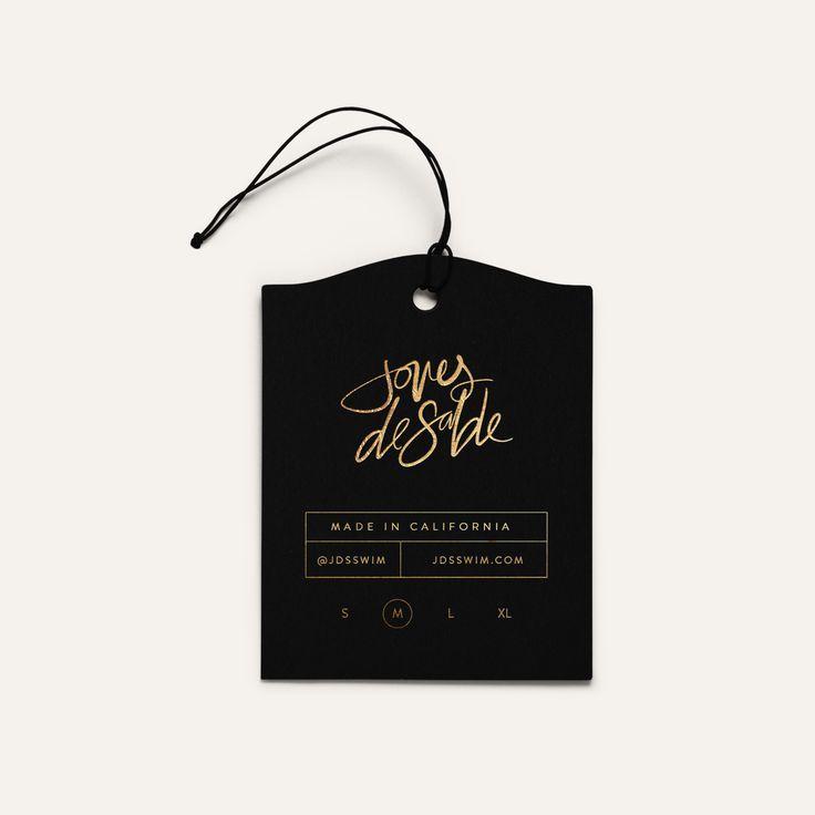 Luxury Swimwear Brand by Mel Volkman, Hand Lettering, Luxury Swim, High End Branding, Modern Brand, JDSSWIM Joues De Sable Gold Foil Lettering