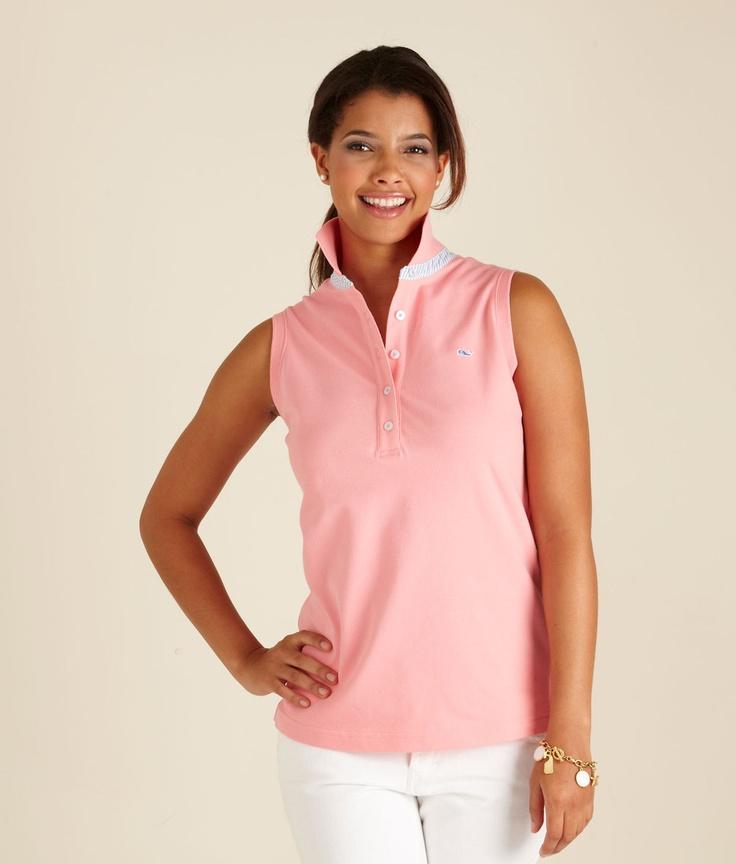 Shoreline Sleeveless Polo Womens Sleeveless Polo Shirts