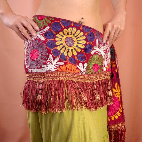 ヒップスカーフ:トルコ伝統刺繍スザンニ- ベリーダンス衣装&ヒップスカーフ専門店 Rakkas(ラッカス)
