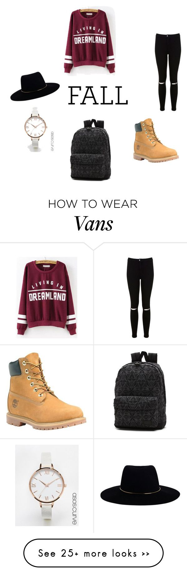 """fall"" by nadjaelsink on Polyvore featuring Miss Selfridge, Vans, Timberland, ASOS Curve and Zimmermann"