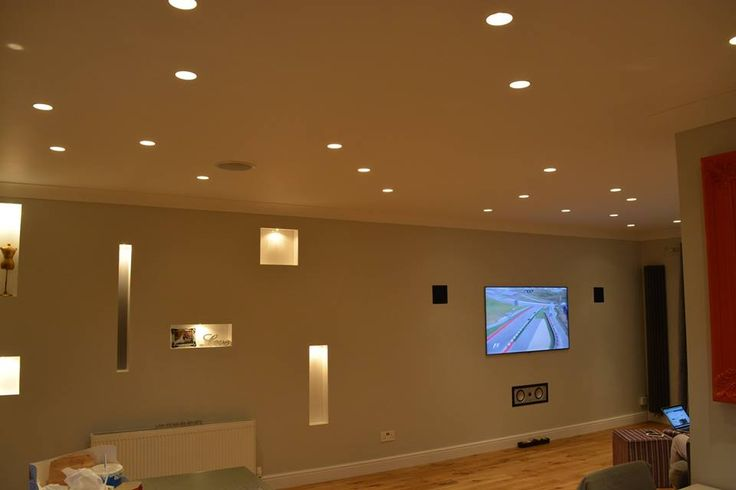 Recessed spot lights and recessed wall shelving completed by JRC Property Solutions.