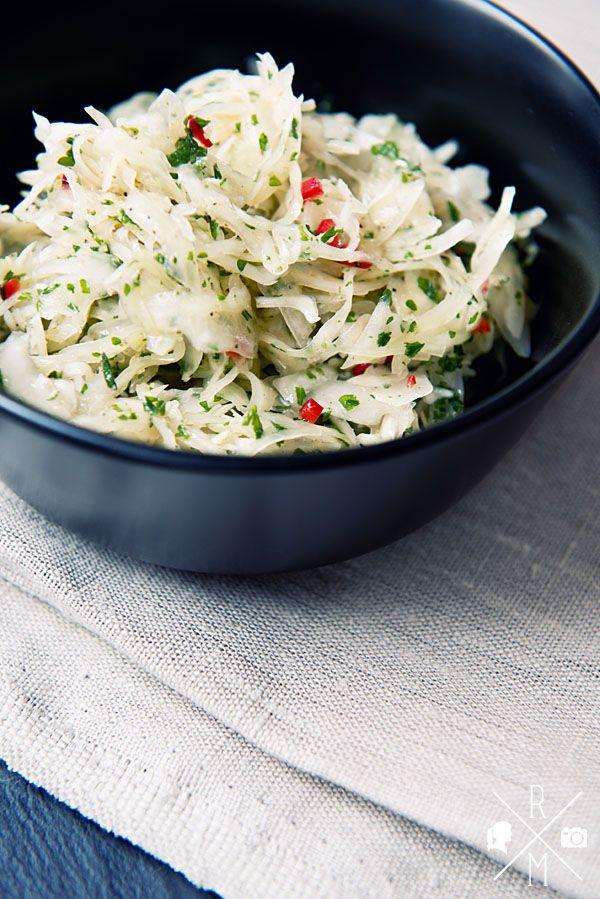 Krautsalat mit Essig und Öl | relleomein.de