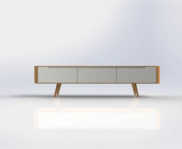 TV meubel Lodge is een ware blikvanger! Het trendy ontwerp verraadt invloeden van lang vervlogen tijden. Fraai afgerond, en in…