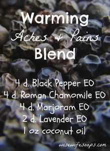 Help ease aches and pains from inflammation and injury with this warming blend.