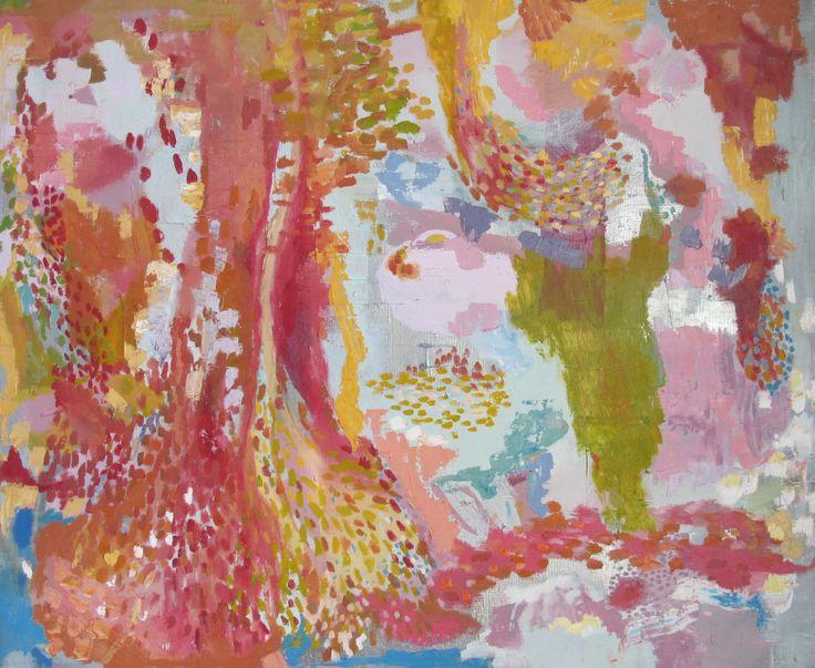 Sanna Vainionpää, Maalaus! Painting! Acryl, spray, oil 110 x 90,  2013