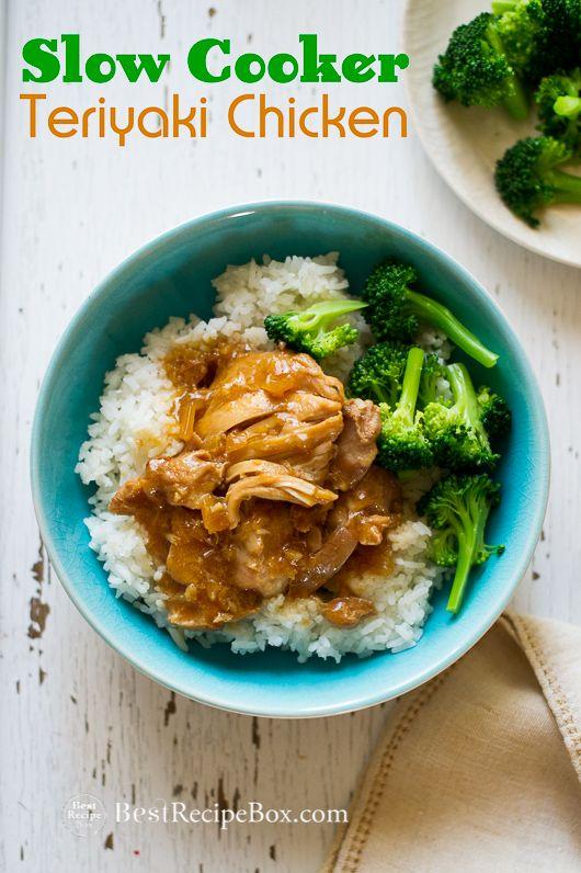 Easy Asian Slow Cooker Chicken Teriyaki Recipe in Crock Pot. A Homemade teriyaki sauce recipe cooked in slow cooker. Best teriyaki chicken recipe