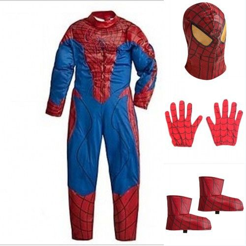 new Cosplay Costume PU FULL SETS Spiderman Costumes for kids red Fancy dress Halloween Party decorations supplies children gifts #Affiliate