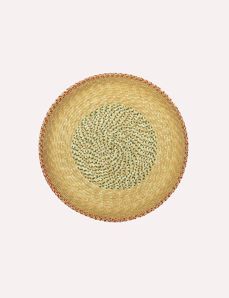 Tray AHU II - straw-plaited by a traditional hat maker in Switzerland.