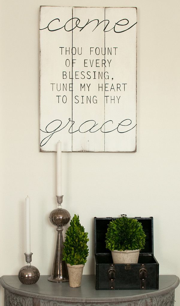 Come Thou Fount 17x26 Wood Sign. a must for g's big girl room!