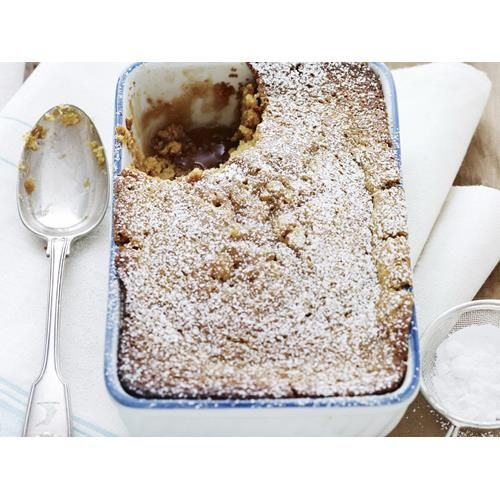 Ginger and orange self-saucing pudding recipe - By Australian Women's Weekly, Serve this fluffy, saucy ginger and orange pudding with big scoops of vanilla bean ice-cream.