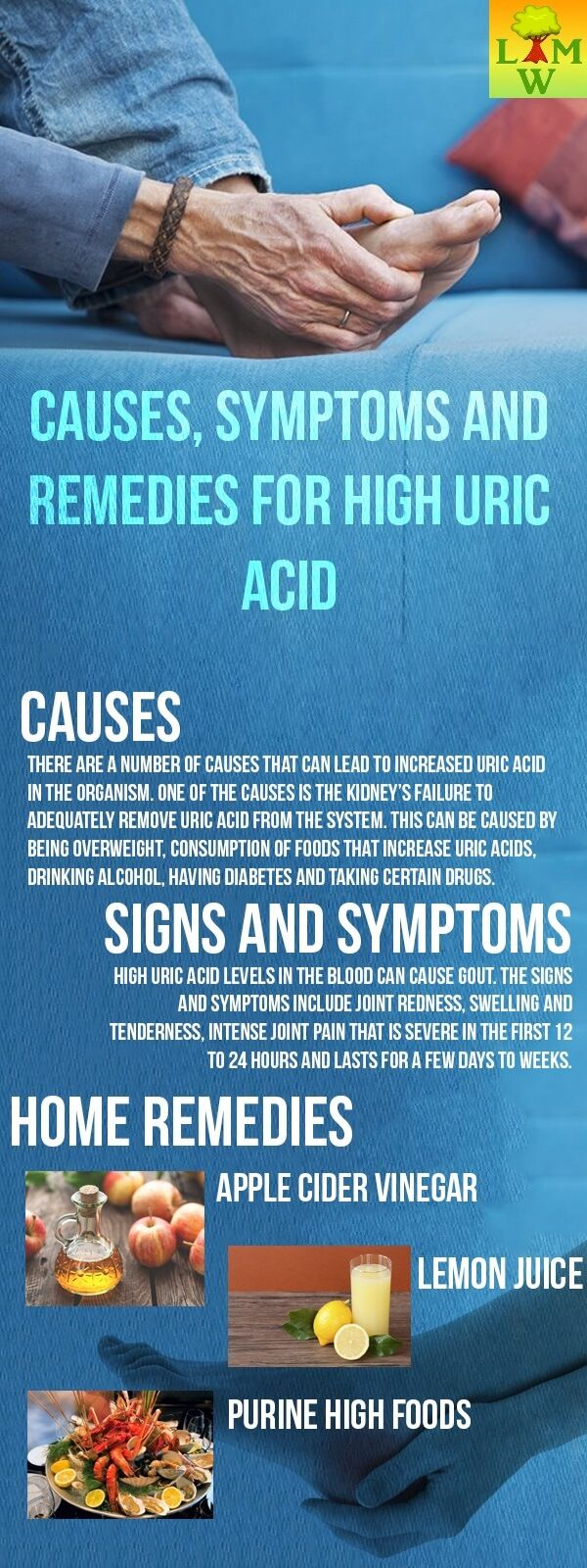 There are a number of causes that can lead to increased uric acid in the organism. One of the causes is the kidney's failure to adequately remove uric acid.