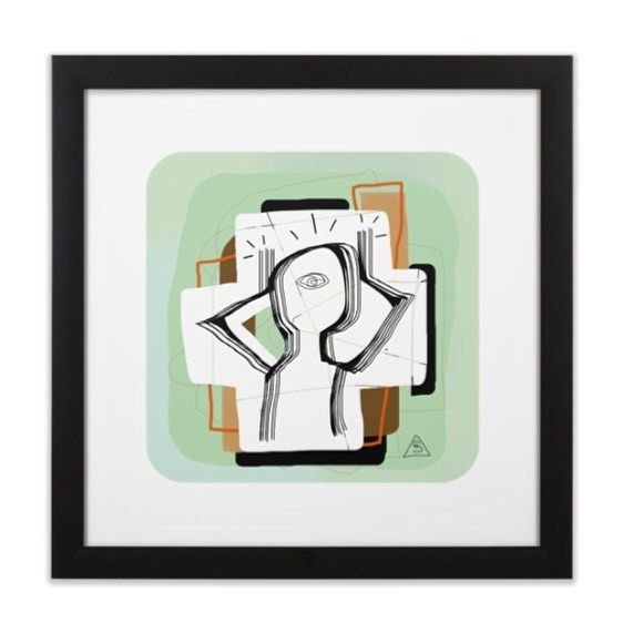 Framed prints available at #seerue.com - Can also be purchased without a frame or printed on canvas. - #framedprint #frames #art #digitalart #abstract #figurative #prints #nyc #canvas
