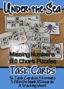36 - 120 chart puzzles for students to fill in.  Laminate and use dry erase markers for a low prep center.  There are also 5 120 charts with missing numbers to provide extra practice.