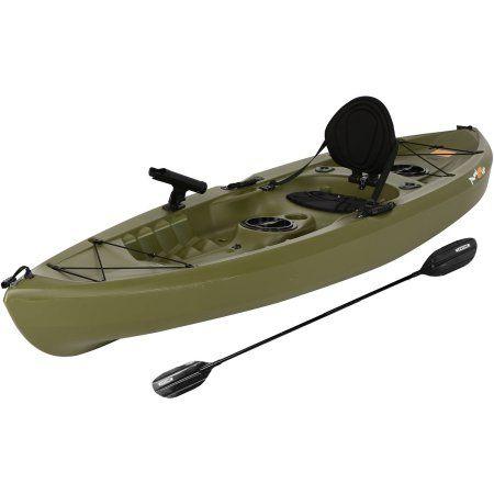 Lifetime Tamarack 120 Angler Kayak, Olive Green