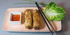 Rezept für vietnamesische Frühlingsrollen mit dreierlei Füllung: Gemüse, Garnelen oder Hähnchen. Dazu wird in Vietnam Zaubersauce gereicht.