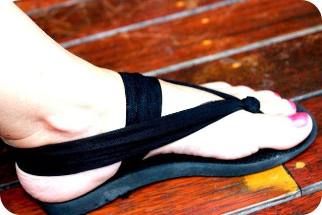 Hip Brown Things: Up-cycle your Flip Flops Tutorial