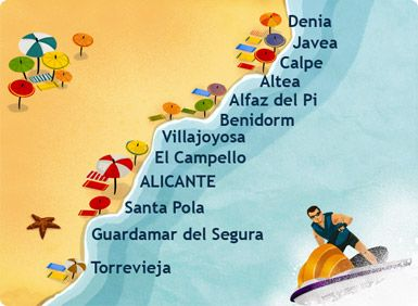 Costa Blanca. Localización.