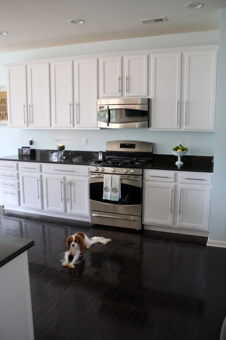 25 best ideas about black granite countertops on for What color countertops with white cabinets