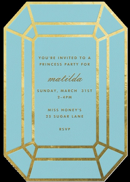 Quot Gem Teal Quot Invitation By Kate Spade New York Paperless