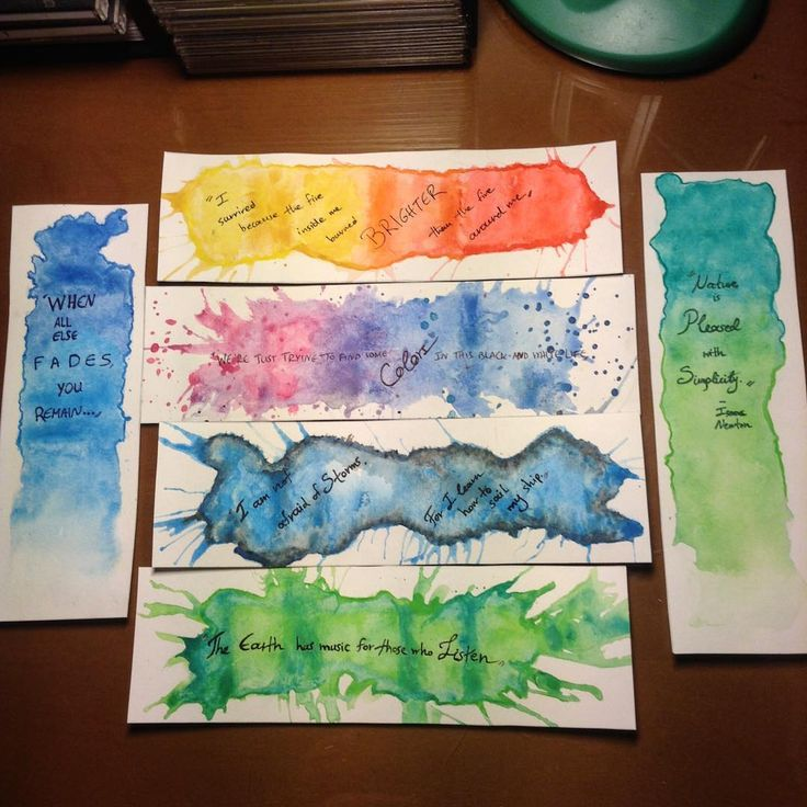 After some experimenting and research for quotes, this is the final result for the first bookmarks. Now I've only tried two different techniques and I have a few more to try, so I'll work more on them. :) #watercolor water #color #colour #watercolour #waterpaint #paint #bookmarks #bookmark #craft #diy #painting #bibliophile #books