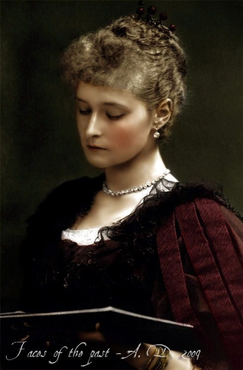 A very elegant portrait of Princess Alix, taken around the time of her engagement to Nicholas of Russia.
