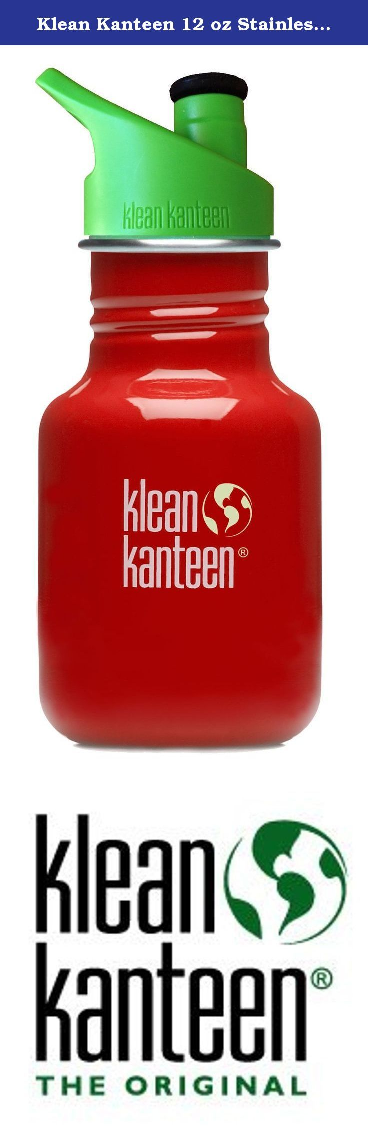 Klean Kanteen 12 oz Stainless Steel Water Bottle with Sport Cap 3.0 in Bright Green - Indicator Red. Small and lightweight, the 12oz Kid Kanteen Classic with Sport Cap 3.0 is the natural progression from a Sippy configuration. The entire cap is BPA-free, super durable and the new soft silicone spout makes the Sport Cap 3.0 safe for new teeth. The 12oz size fits into just about any cup holder, stroller, or car seat and its large-mouth design fits ice cubes and makes cleaning simple. Go…