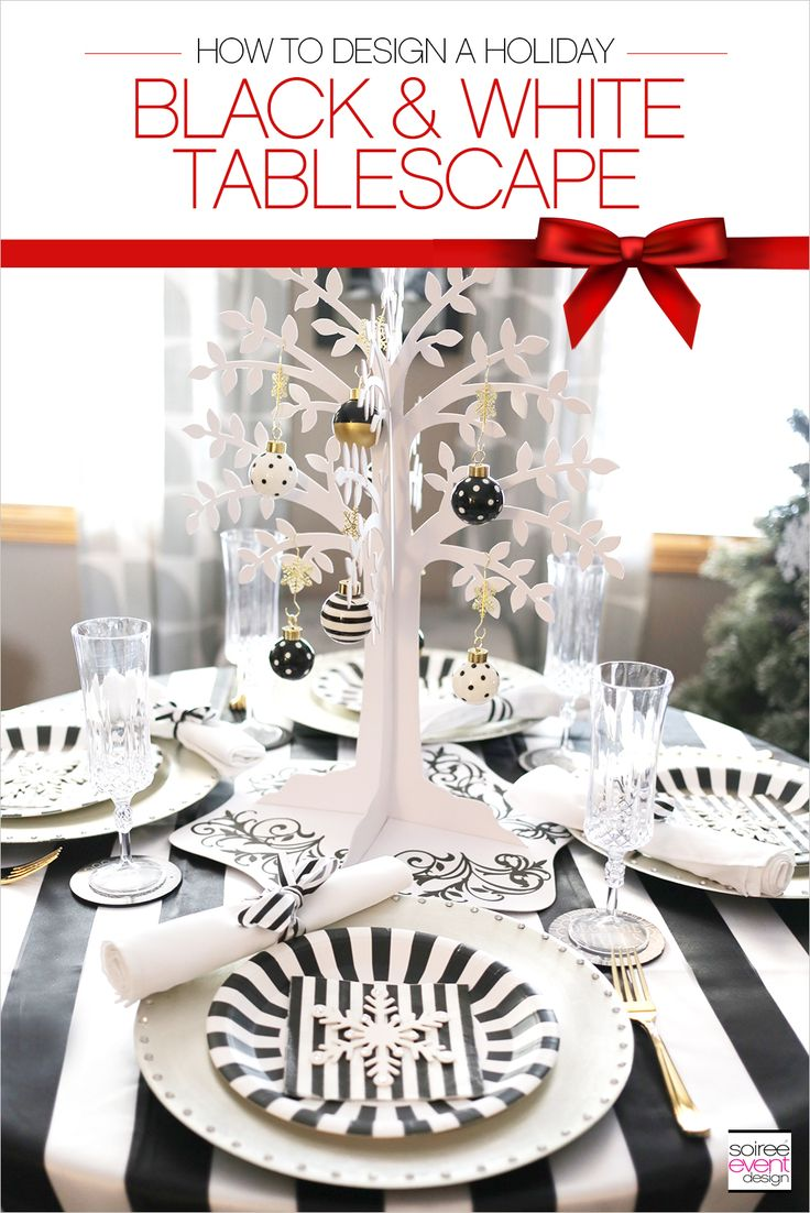 17 best images about my blog soiree event design on for Black and white tablescape ideas