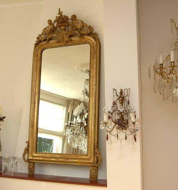 1000 idee n over franse spiegel op pinterest frans provinciaalse meubels antieke spiegels en - Meubilair van de ingang spiegel ...