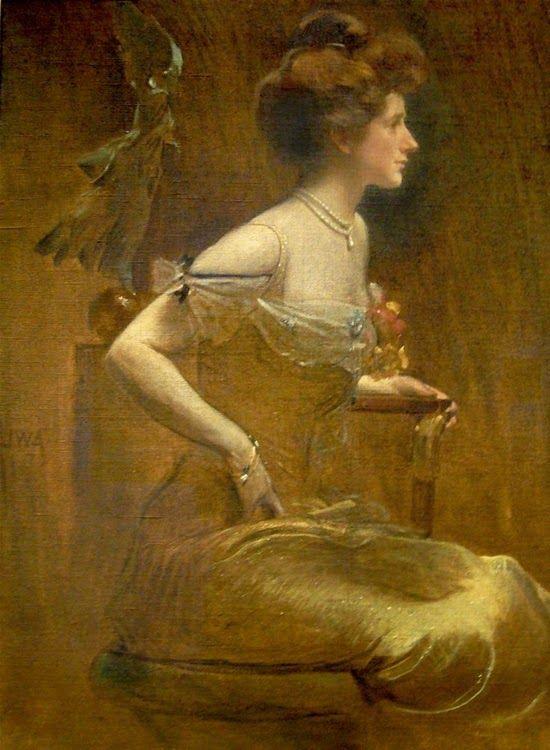 ~ John White Alexander  ~ American artist, 1856-1915: Mrs. Thomas Hastings