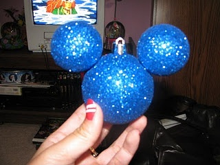 mickey ornament WITH instructions!!