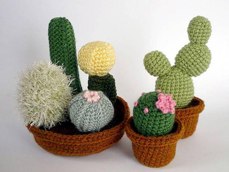 Cactus en crochet LunasCrafts, Etsy                              …